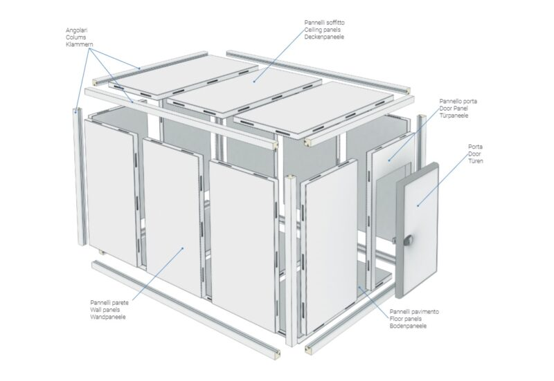 In-door cold rooms for agribusinesses